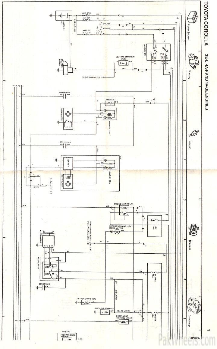 Wiring Diagram Kelistrikan Body Toyota : Toyota corolla repair manual for ee ae from