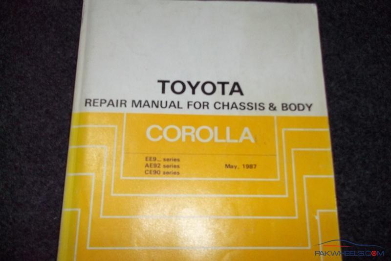 toyota corolla repair manual for ee90 ae92 from 1987 91 corolla rh pakwheels com toyota corolla ee90 repair manual pdf Toyota Corolla E90 Series