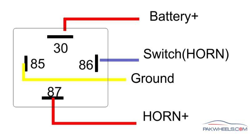 Horn Relay Diagram 4 Pin Modern Design Of Wiring Diagram