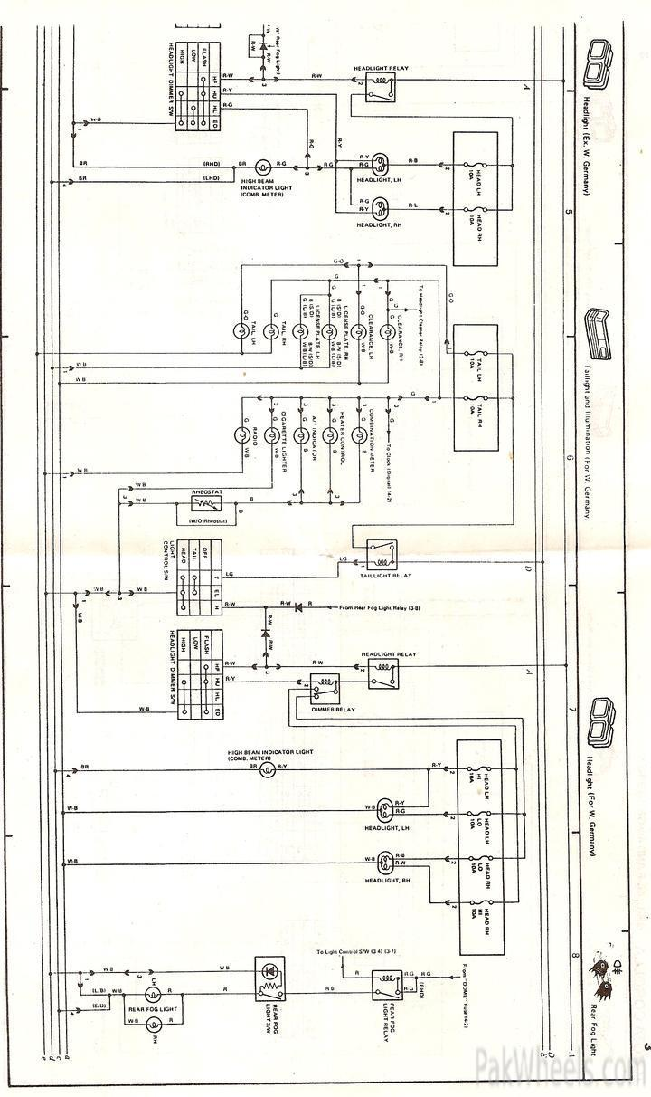 toyota corolla repair manual for ee90,ae92 from 1987-91 - corolla, Wiring diagram