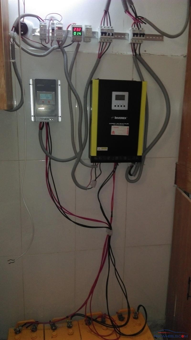 Diy Solar Panel Installation Controller Selection And Batteries Electrical Wiring Ups Here Are The Pictures Of My Apart I Have A Fourth Controllers Am Going To Upload Its Pic Later