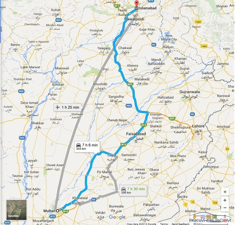 Multan to Islamabad by road Route options 2016 Ask Travel Gurus