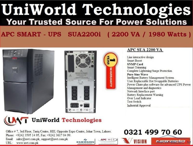 APC UPS for sale - Non-Auto Related Stuff - PakWheels Forums
