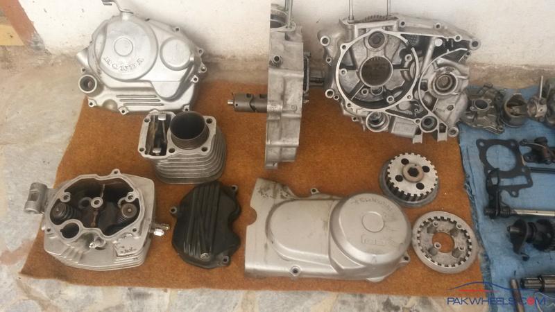Honda CG 125 Engine full rebuild itself at Home - Honda