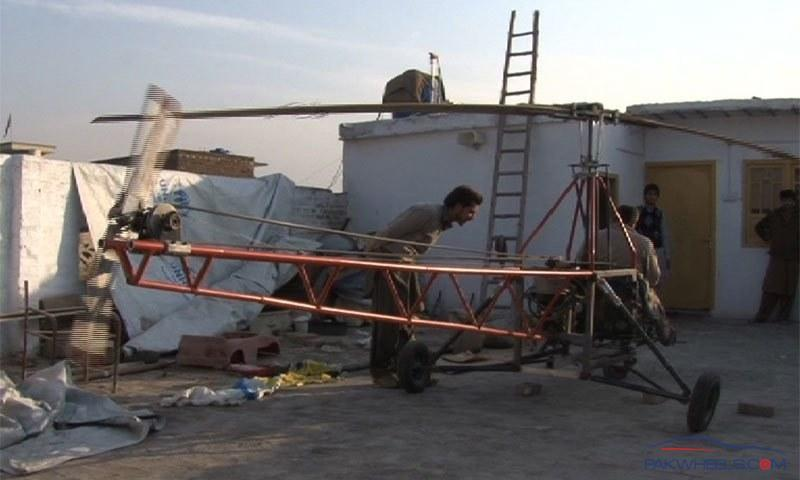 DIY: Home made Helicopter Made by two brothers in Peshawar